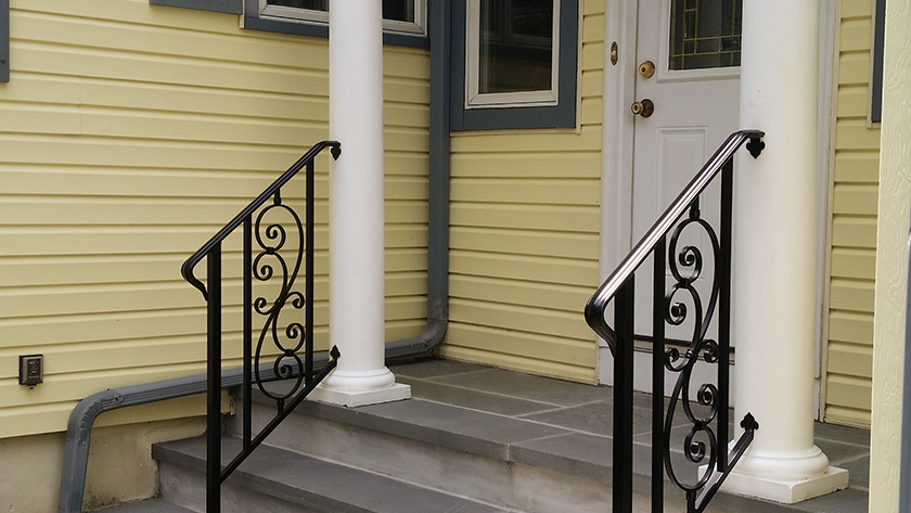 E8 Exterior Iron Railing With Inserts
