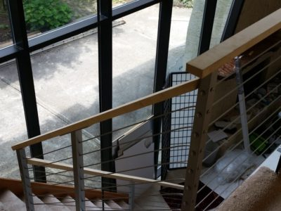 I3 Stainless Steel Cable Railing With Wood Top