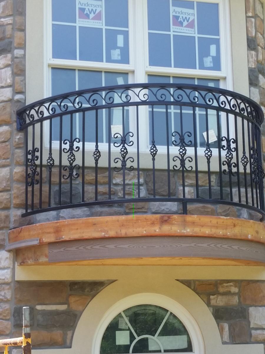 B1 Balcony Faux Radius Custom Design Iron Balcony Railing ...