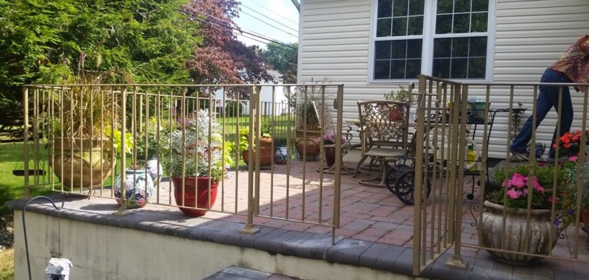 EG3 Double Entry Gate Along With Porch Railing