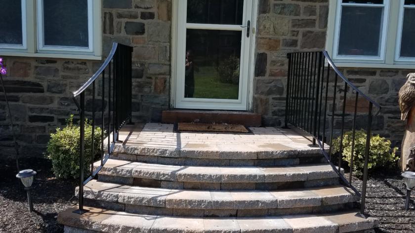 E 48 Front Steps Exterior Railing